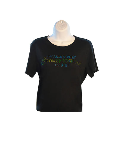 Rhinestone - Green Smoothie Life(Black)