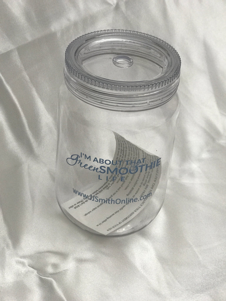 Mason Jar clear with Clear Lid and Clear Straw