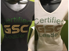 Certified GSC Leader ~ V-Neck ~Black/White