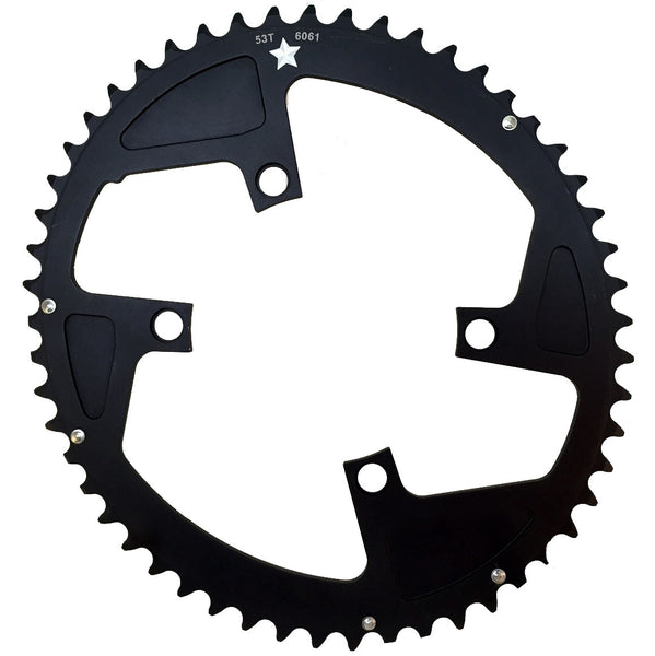 OVAL 110 4-Bolt ST CXR 53T Road / Cross Compact Chainring
