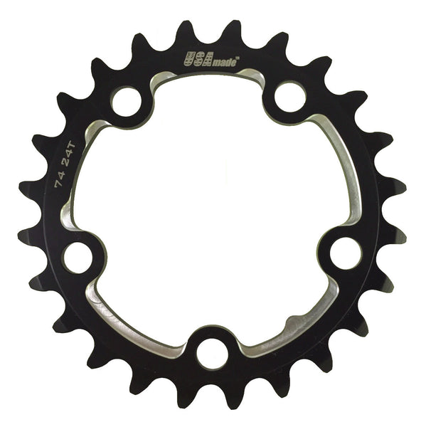 74 24T ATTACK Black Road Chainring - CLOSEOUT PRICE