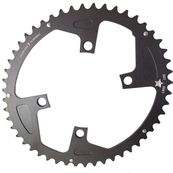 OVAL 110 4-Bolt ST CXR 52T Road / Cross Compact Chainring