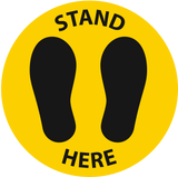 Stand Here Decal