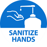 Sanitize Hands Decal