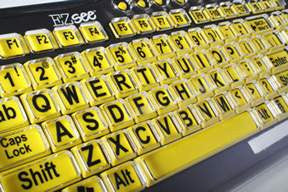 Black and Yellow Keyboard Cover