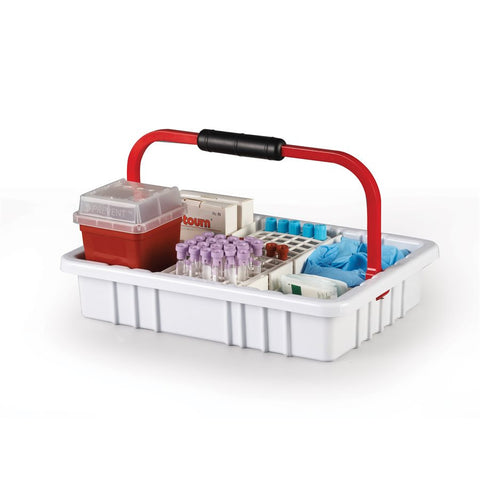 Phlebotomy Tray with Removable Handle and 17 mm rack