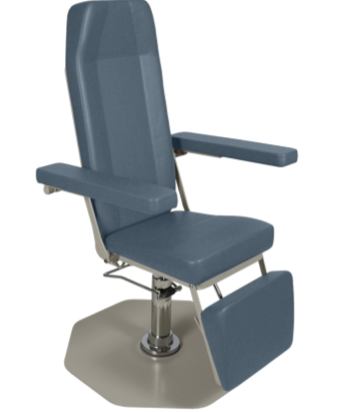 Ultra-Comfort Hydraulic Phlebotomy  Chair with Foot Operated Pump
