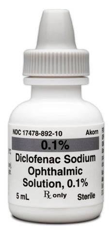 Diclofenac Sodium Solution 0.1 % 5 mL