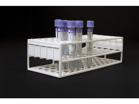 13 mm Resin Tube Racks, White