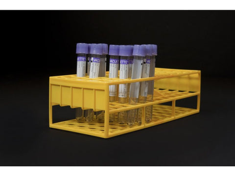 13 mm Resin Tube Racks, Yellow