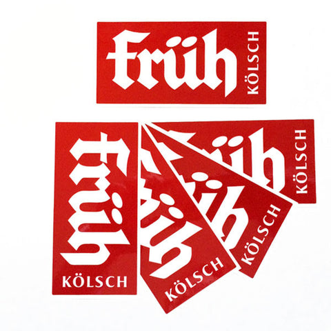 Red Früh Kölsch Stickers