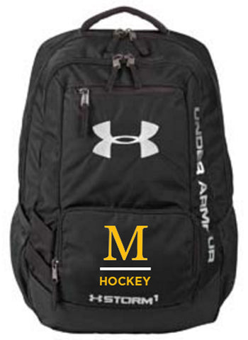 1272782 Under Armour Team Hustle Backpack - Black