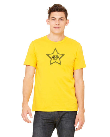 Rock U Unisex T-Shirt Star Front 3001c with Personalization