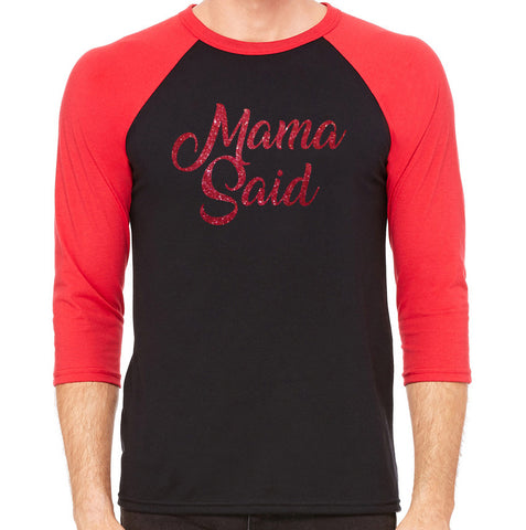 Roxies Dance - 3200 Red/Black Raglan - Mama Said Front