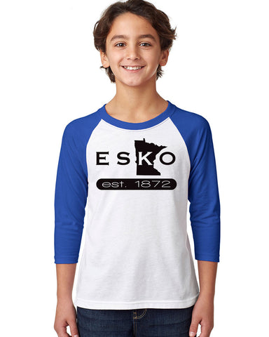 3352 Next Level Youth Raglan - Esko Est. 1872