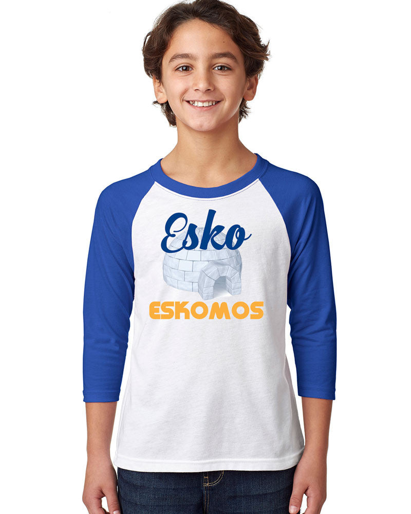 3352 Next Level Youth Raglan - Esko Eskomos