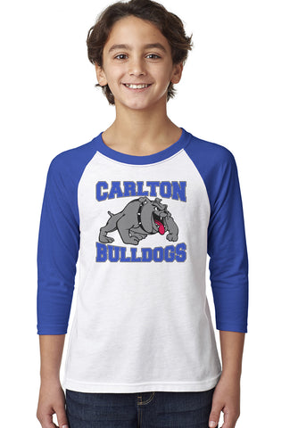 3352 Next Level Youth Raglan - Carlton Bulldogs