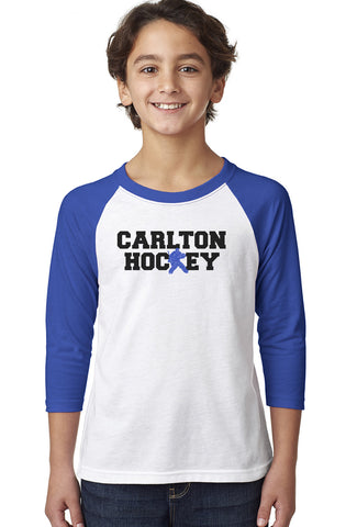 3352 Next Level Youth Raglan - Carlton Hockey