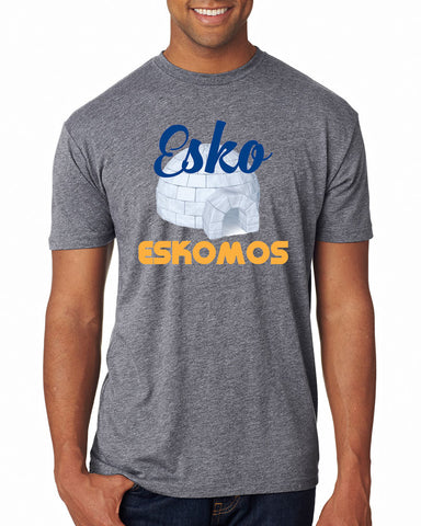 6010 Next Level Triblend Tee Shirt - Unisex - Esko Eskomos Igloo