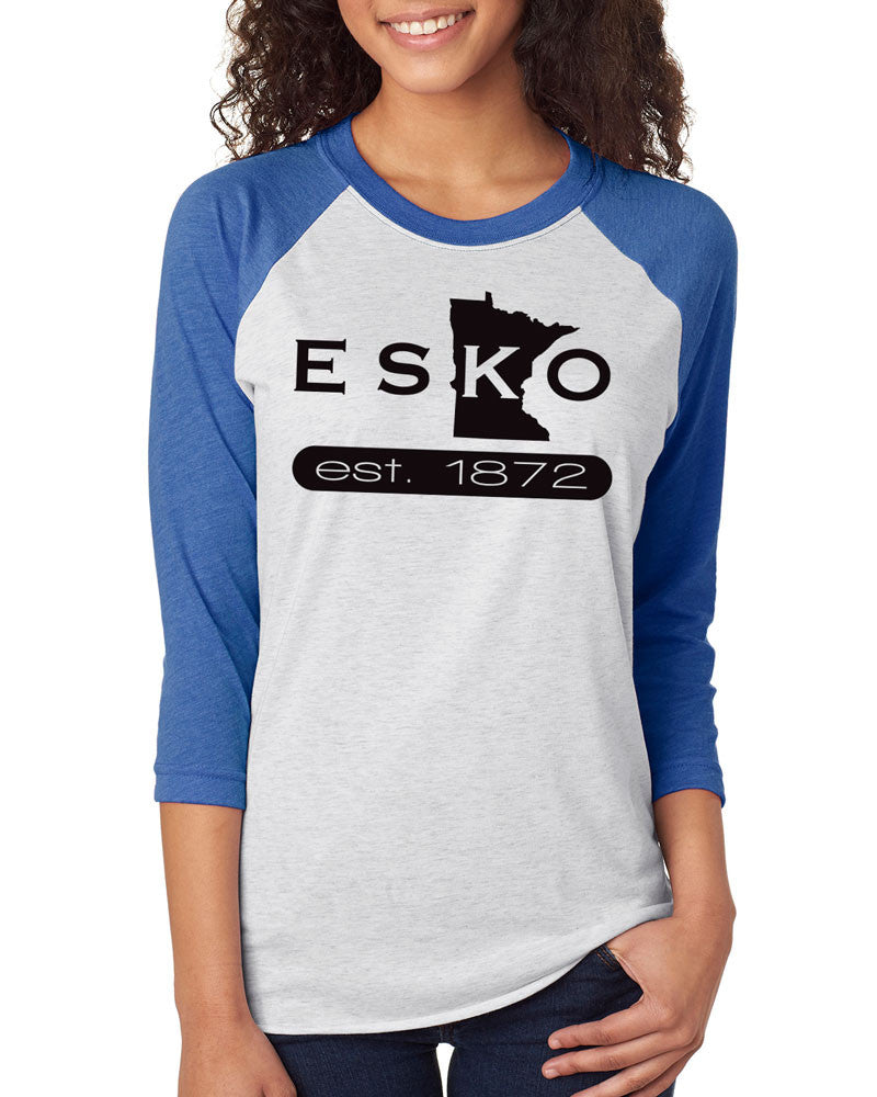6051 Next Level Unisex Raglan Jersey - Esko Est. 1872