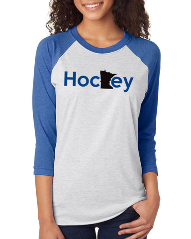 6051 Next Level Unisex Raglan Jersey - MN Hockey