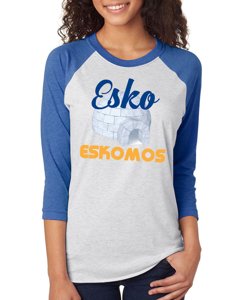 6051 Next Level Unisex Raglan Jersey - Esko Eskomos Igloo