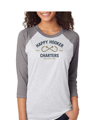 Happy Hooker Charters 6051 Raglan - Color Logo