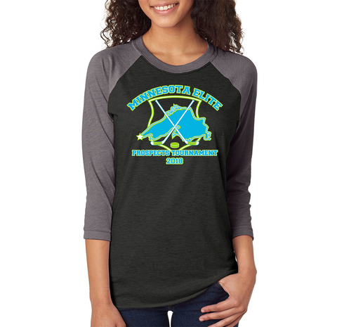 Elite Prospects - 6051 Next Level Triblend 3/4 Sleeve Raglan