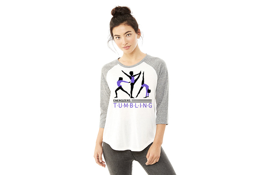 61352 Alternative Ladies' Eco Jersey Raglan Baseball T-Shirt - Vintage Purple