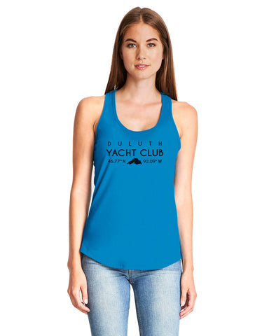 Duluth Yacht Club 6338 Next Level Ladies' Gathered Racerback Tank