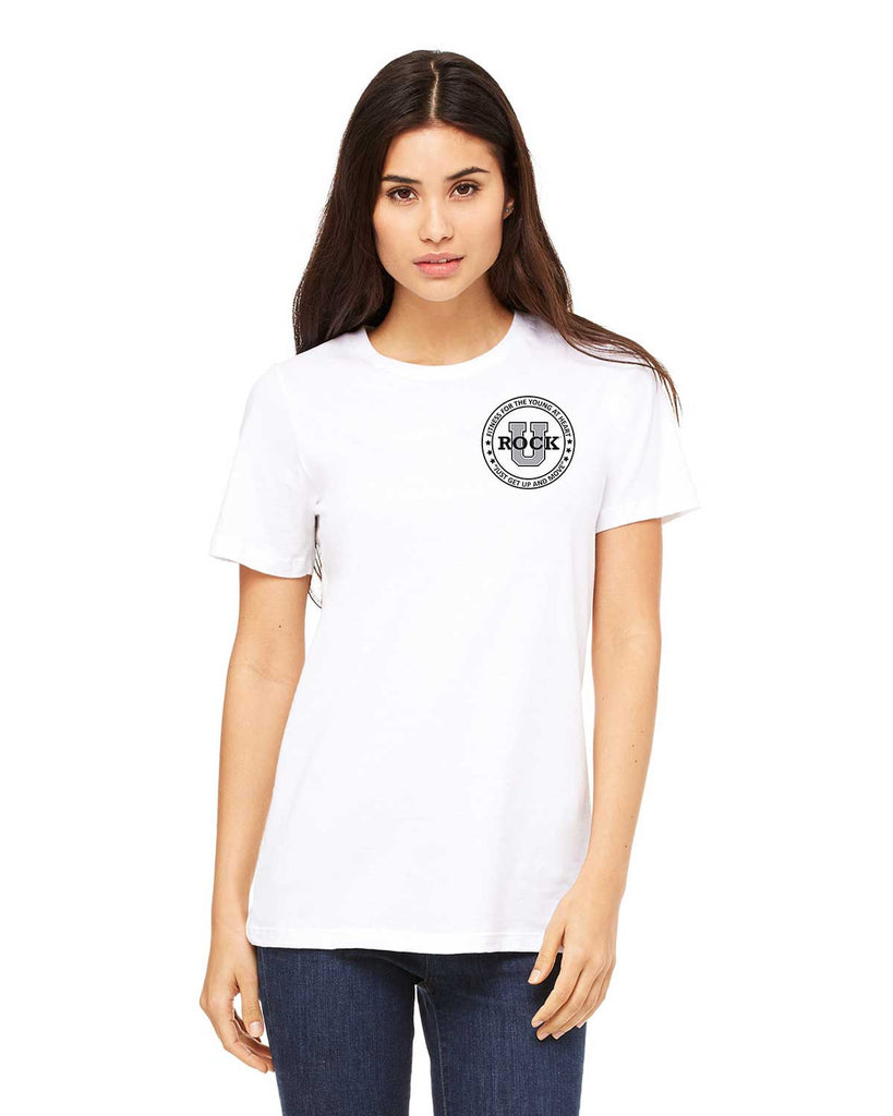 Rock U Women's T-Shirt Front Crest 6400 with Logo on Back