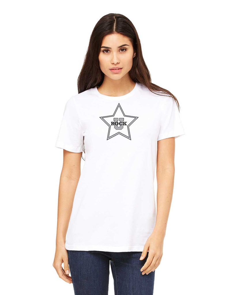 Rock U Women's T-Shirt Front Star 6400 with Logo on Back