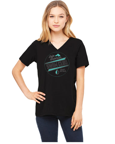 LSSC Rhinestones- 6405 Bella Canvas Vee Neck Tee