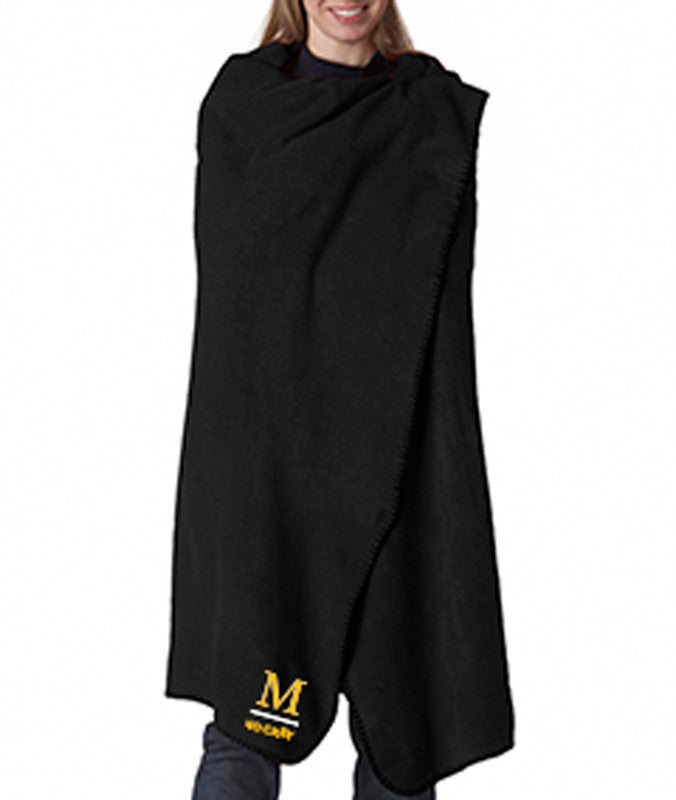 M999 Harriton Fleece Blanket-Black
