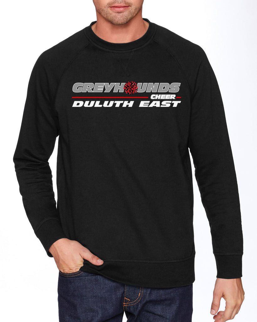 Duluth East Youth Cheerleading French Terry Raglan Crew - N9000