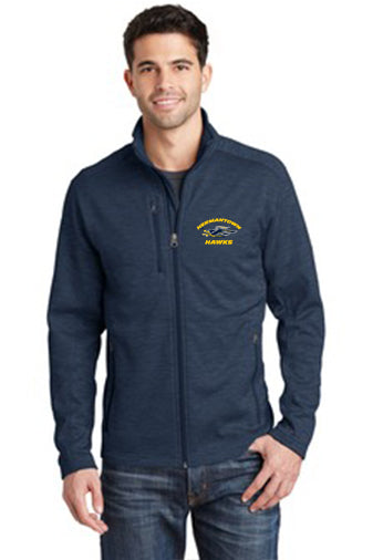 F231 Unisex Digi Stripe Fleece Jacket - Hermantown Hawks