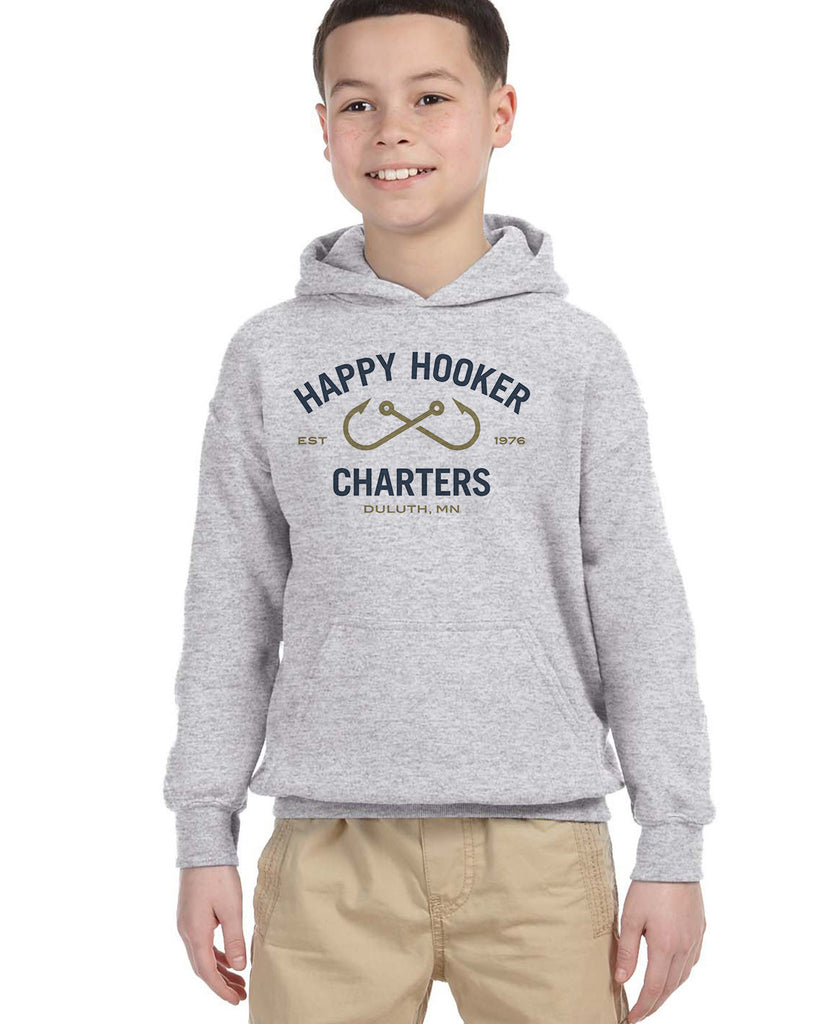 Happy Hooker Charters G185B Youth Pullover Hoodie