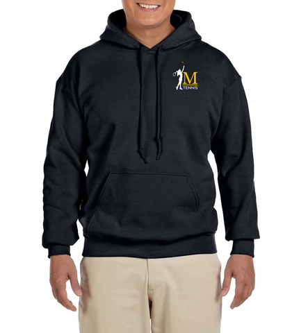 G185 Black Embroidered Hooded Sweatshirt- Marshall Girls Tennis