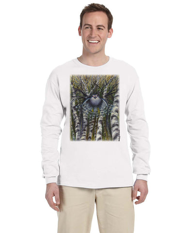 "Hawk Ridge ""Northern Goshawk Attacking"" Unisex Long Sleeve Shirt"