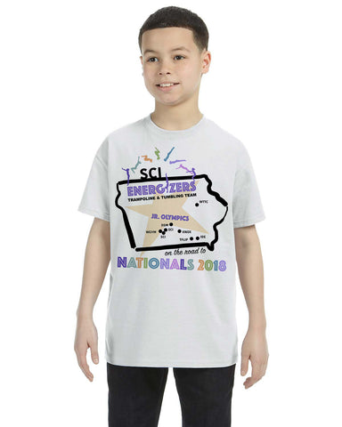Road to Nationals G500B Gildan Youth 5.3 oz T-Shirt