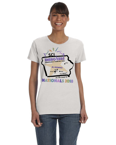 Road to Nationals G500L Gildan Ladies T Shirt