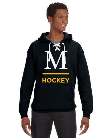 JA8830 Hockey Lace Hoodie w/ Tackle Twill and Embroidered Logo