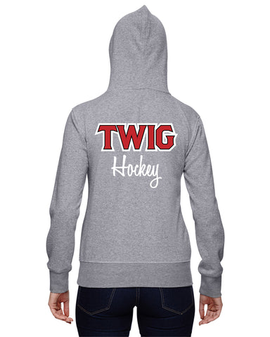 JA8860 Twig Hockey Mom Glitter Sweatshirt and Decoration
