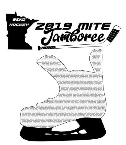Esko Hockey Mite Jamboree 2019 T-Shirt - 3600, 3900, 3310