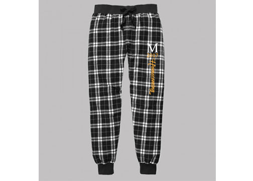 F60BLKW Marshall Homecoming Plaid Tailgate Jogger