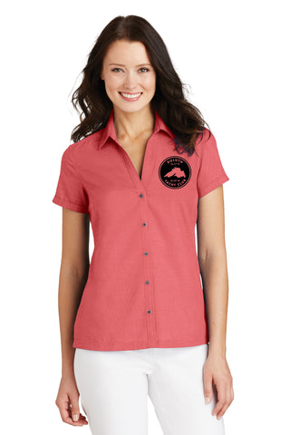Duluth Yacht Club L662 Port Authority® Ladies Textured Camp Shirt