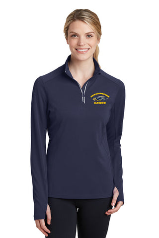 LST860 Ladies Sport Tek Quarter Zip - Hermantown Hawks