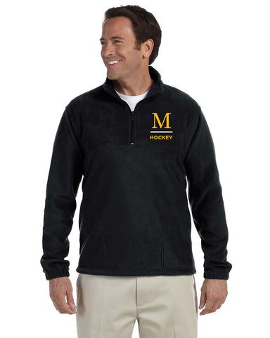 M980 Harriton Quarter Zip Fleece Pullover - Marshall Hockey