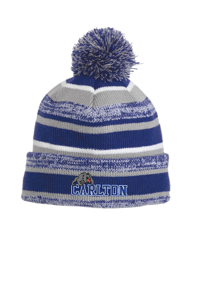 NE902 Embroidered Royal Grey Beanie Carlton