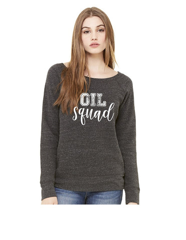 7501 Bella Sponge Fleece Wide Neck Sweatshirt - Oil Squad